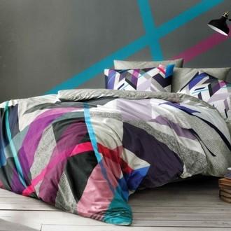 Комплект подросткового постельного белья TAC POLO хлопковый ранфорс (серый)