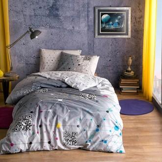 Комплект подросткового постельного белья TAC CONNECT хлопковый ранфорс (серый)