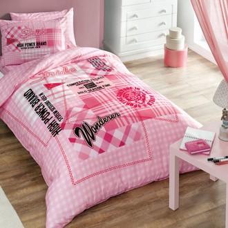 Комплект подросткового постельного белья TAC TIME хлопковый ранфорс (розовый)