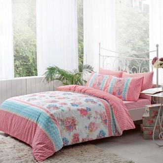 Комплект постельного белья TAC HAPPY DAYS EMMA хлопковый ранфорс (розовый)