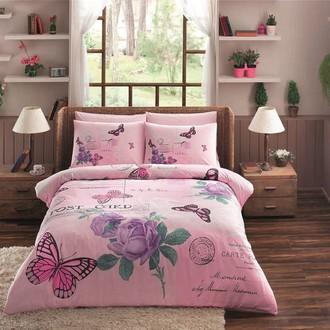 Комплект постельного белья TAC HAPPY DAYS NINA хлопковый ранфорс (розовый)