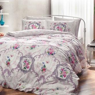 Комплект постельного белья TAC HAPPY DAYS SELINA хлопковый ранфорс (лиловый)