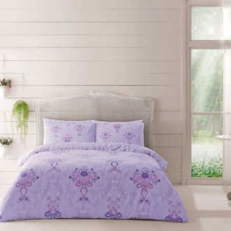 Комплект постельного белья TAC HAPPY DAYS EVAN хлопковый ранфорс (лиловый)