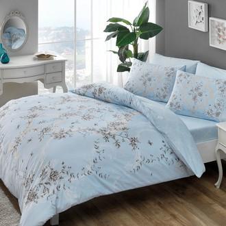 Комплект постельного белья TAC HAPPY DAYS BEATRICE хлопковый ранфорс (голубой)