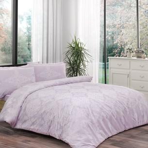 Постельное белье TAC HAPPY DAYS BLANCE хлопковый ранфорс лиловый 1,5 спальный