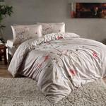 Постельное белье TAC HAPPY DAYS FIONA хлопковый сатин бежевый 1,5 спальный, фото, фотография