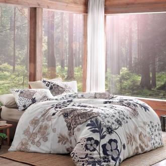 Комплект постельного белья TAC HAPPY DAYS BERTHA хлопковый сатин (кофейный)