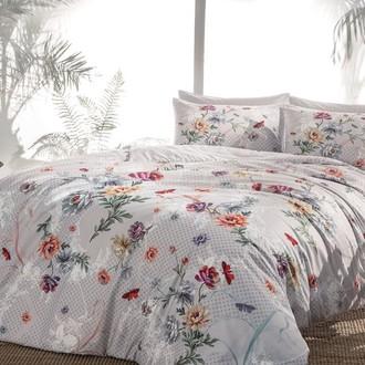 Комплект постельного белья TAC HAPPY DAYS LUCINDA хлопковый сатин (серый)