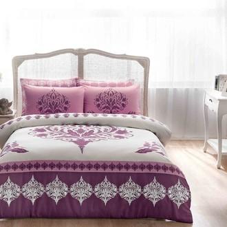 Комплект постельного белья TAC HAPPY DAYS VENNA хлопковый сатин (фиолетовый)