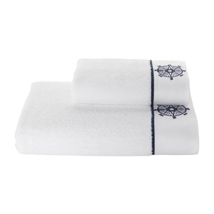 Полотенце для ванной Soft Cotton MARINE LADY хлопковая махра белый 85х150