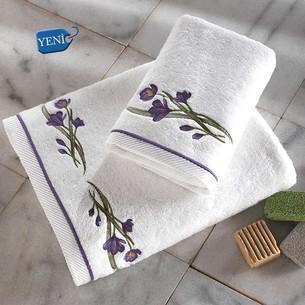 Полотенце для ванной Soft Cotton BLOSSOM хлопковая махра лиловый 85х150