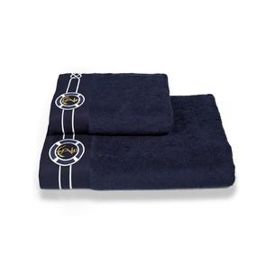 Полотенце для ванной Soft Cotton MARINE хлопковая махра тёмно-синий 85х150