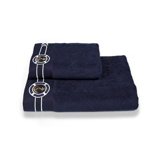 Полотенце для ванной Soft Cotton MARINE хлопковая махра тёмно-синий