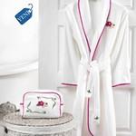 Халат женский Soft Cotton LILY хлопковая махра фуксия S, фото, фотография