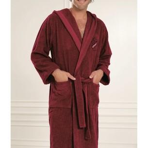 Халат мужской Soft Cotton SOHO SPORT хлопковая махра бордовый S