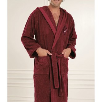 Халат мужской Soft Cotton SOHO SPORT хлопковая махра бордовый