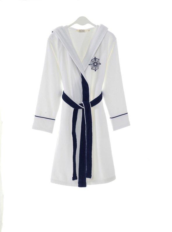 Халат женский Soft Cotton MARINE LADY хлопковая махра (белый) S, фото, фотография