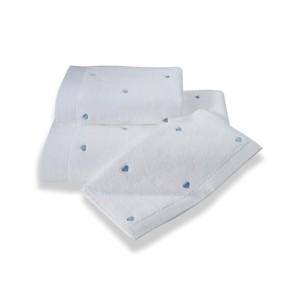 Полотенце для ванной Soft Cotton LOVE микрокоттон голубой 75х150