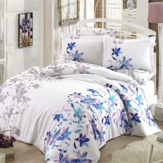 Комплект постельного белья Hobby Home Collection LUCIA хлопковый сатин (синий)