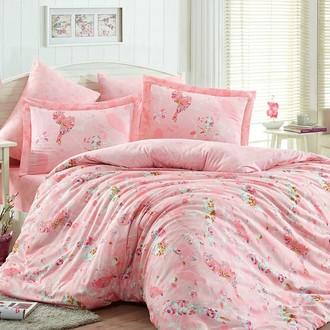 Комплект постельного белья Hobby MYSTERY сатин хлопок (розовый)
