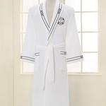 Халат мужской Soft Cotton MARINE хлопковая махра белый XL, фото, фотография