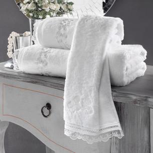 Полотенце для ванной Soft Cotton LUNA хлопковая махра белый 85х150