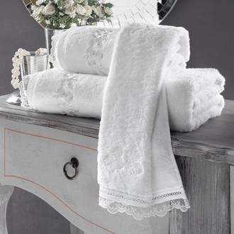 Полотенце для ванной Soft Cotton LUNA хлопковая махра белый