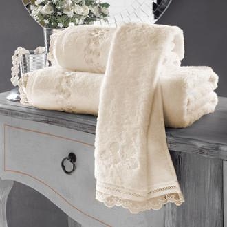 Полотенце для ванной Soft Cotton LUNA хлопковая махра экрю