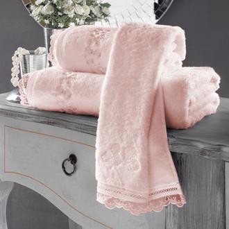 Полотенце для ванной Soft Cotton LUNA хлопковая махра розовый