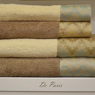 Подарочный набор полотенец для ванной 50*90, 70*140 La Villa BEDEL хлопковая махра (светло-коричневый)