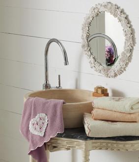 Подарочный набор полотенец для ванной La Villa EMILY хлопковая махра 50*90, 70*140 (персиковый)