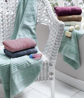 Подарочный набор полотенец для ванной La Villa RITA хлопковая махра 50*90, 70*140 (синий)