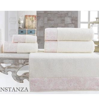 Подарочный набор полотенец для ванной 3 пр. La Villa CONSTANZA хлопковая махра (кремовый)
