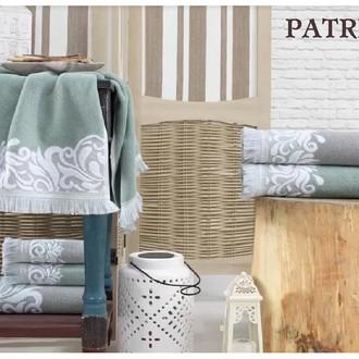 Подарочный набор полотенец для ванной 3 пр. La Villa PATRIZIA хлопковая махра (зелёный)