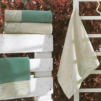 Подарочный набор полотенец для ванной La Villa SHAWL хлопковая махра 50*90, 70*140 (зелёный)