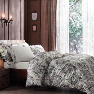 Комплект постельного белья Tivolyo Home SALIM сатин, жатый шёлк (бежевый)