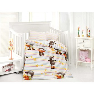 Комплект постельного белья для новорожденных Altinbasak KUZUCUK хлопковый ранфорс (оранжевый)