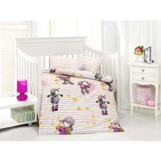 Комплект постельного белья для новорожденных Altinbasak KUZUCUK хлопковый ранфорс (розовый)