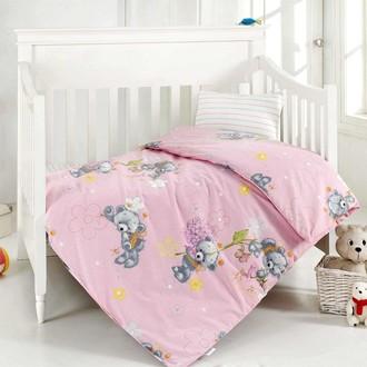 Комплект постельного белья для новорожденных Altinbasak YUMAK хлопковый ранфорс (розовый)