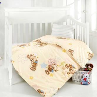 Комплект постельного белья для новорожденных Altinbasak YUMAK хлопковый ранфорс (кремовый)