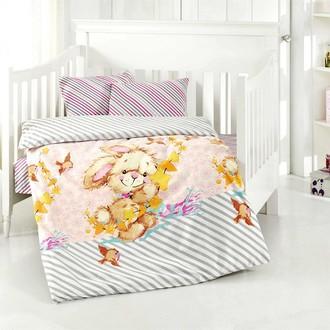 Постельное белье для новорожденных Altinbasak PAMUK хлопковый ранфорс сиреневый
