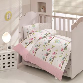 Комплект постельного белья для новорожденных Altinbasak CIK-CIK хлопковый ранфорс