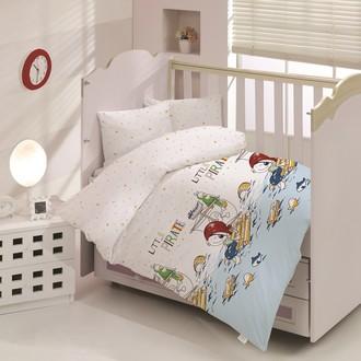 Комплект постельного белья для новорожденных Altinbasak LITTLE PIRATE хлопковый ранфорс