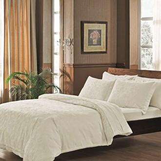 Комплект постельного белья TAC LUX JAKARANDA хлопковый жаккард (кремовый)