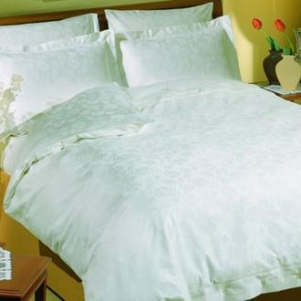 Комплект постельного белья TAC LUX JAKARANDA хлопковый сатин-жаккард делюкс (белый)