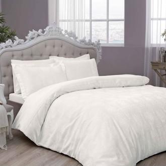 Комплект постельного белья TAC LUX DIANA хлопковый сатин-жаккард делюкс (кремовый)