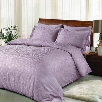 Комплект постельного белья TAC LUX BRINLEY хлопковый жаккард (лиловый)