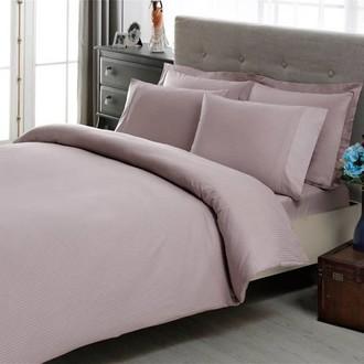 Комплект постельного белья TAC LUX BASIC STRIPE хлопковый сатин-жаккард делюкс (лиловый)