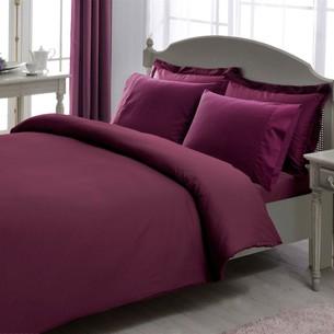 Постельное белье TAC LUX BASIC STRIPE хлопковый сатин-жаккард делюкс фиолетовый евро