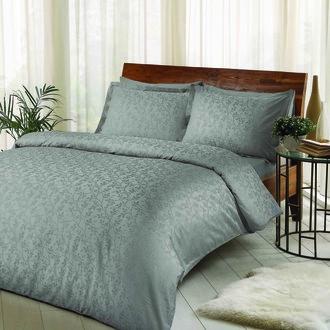 Комплект постельного белья TAC LUX CLEMENCE хлопковый жаккард (серый)